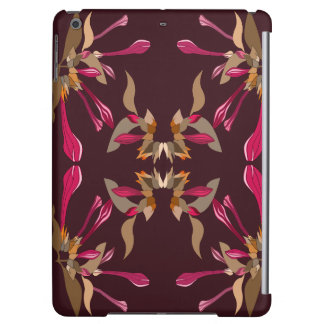 Feminine Cyclamen and Burgundy Kaleidoscope Style Cover For iPad Air