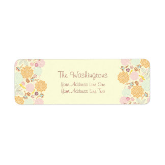 Feminine Fancy Modern Floral Personalized