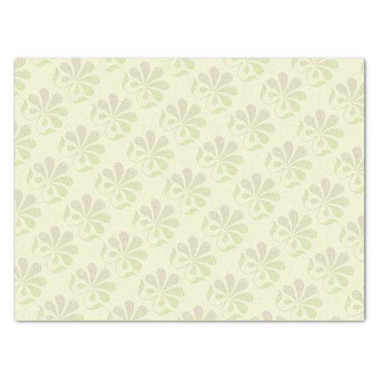 Feminine Flower Swirls Tissue Paper