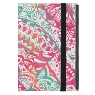 feminine hand drawn pink tribal floral pattern case for iPad mini