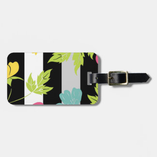 "Feminine label of luggage ""colorful Leaves "" Luggage Tag"