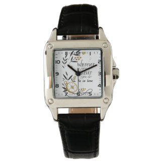 "Feminine leather clock ""Wherever you go… "" Wrist Watches"