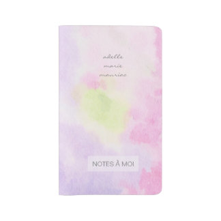 feminine pastel watercolor large moleskine notebook