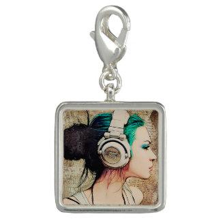 "Feminine pendant of silver ""Woman music "" Charm"