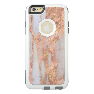 Feminine Pink and White Abstract Marble Pattern OtterBox iPhone 6/6s Plus Case