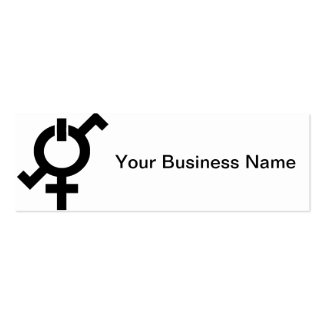 Feminine Strength Power Balance Energy Symbol Pack Of Skinny Business Cards