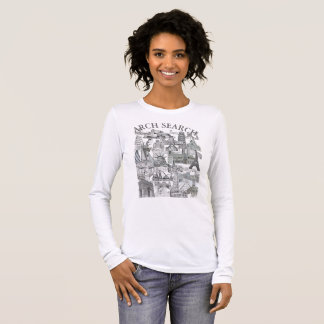 Feminine t-shirt Basic Long Arch Mural Search