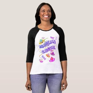 Feminine t-shirt Branca Raglan Carnival of Brazil
