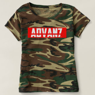 "Feminine t-shirt Camouflaged ""Advanced"" (New)"