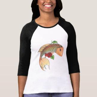 Feminine t-shirt Carp and roses