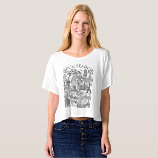 Feminine t-shirt Crop Arch Mural Search
