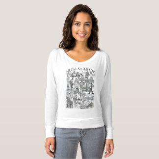 Feminine t-shirt Flowy Long Arch Mural Search
