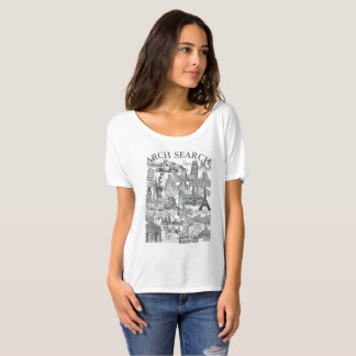 Feminine t-shirt Flowy Simple Arch Mural Search