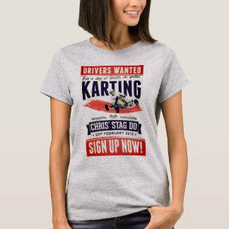 Feminine t-shirt Grey Vintage Karting