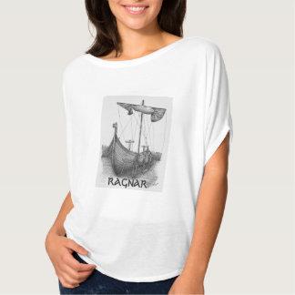 Feminine t-shirt Prints Boat Viking Ragnar