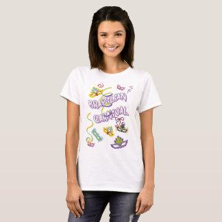 Feminine t-shirt White Carnival of Brazil