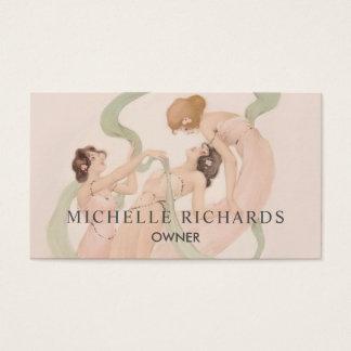 Feminine Vintage Nouveau Mayflies Business Card