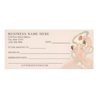 Feminine Vintage Nouveau Mayflies Gift Certificate