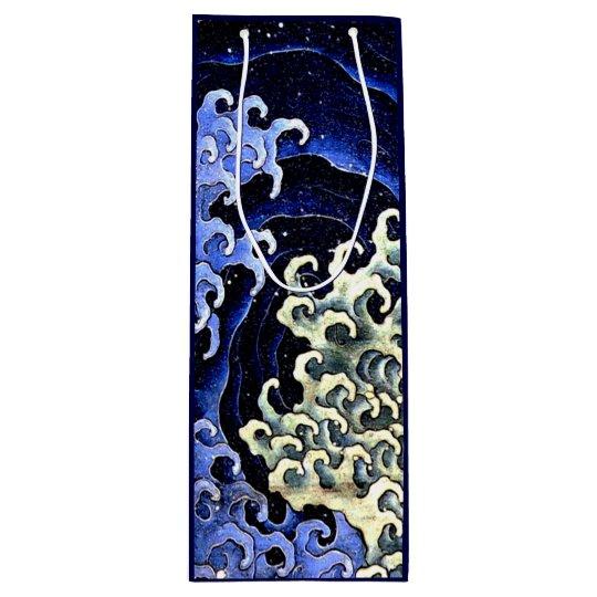 Feminine Wave (Detail) by Hokusai Wine Gift Bag