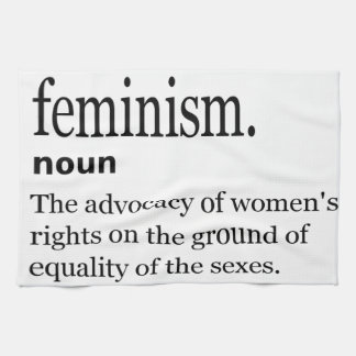 feminism definition kitchen towel