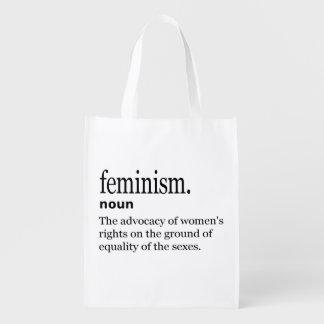 Feminism Definition Reusable Grocery Bag