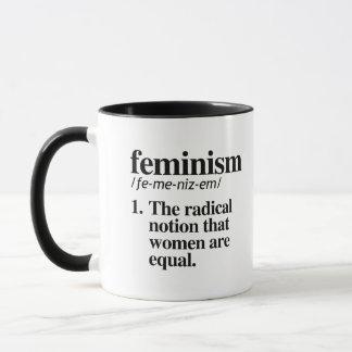 Feminism Definition - The radical notion that wome Mug