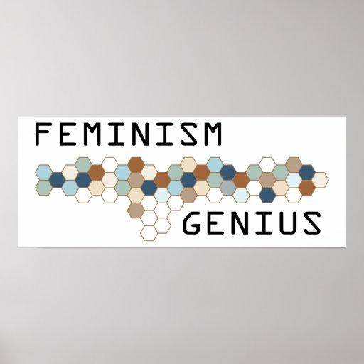 Feminism Genius Poster