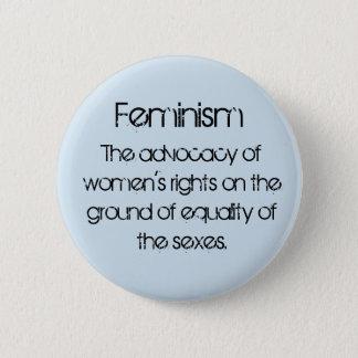 Feminism in Baby Blue 2 Inch Round Button
