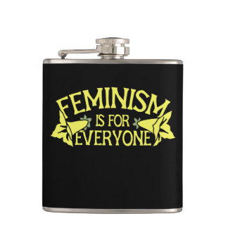 feminism is for everyone hip flask