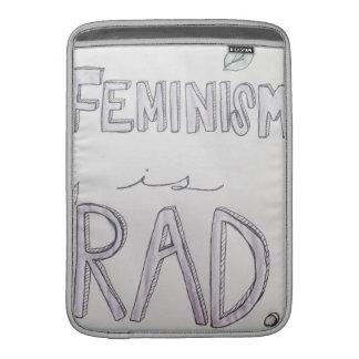 """Feminism Is Rad Macbook Air 13"""" Sleeve MacBook Sleeve"""