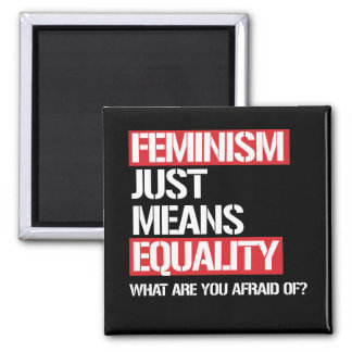 Feminism just means equality - why are you afraid  magnet