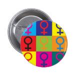 Feminism Pop Art Pin