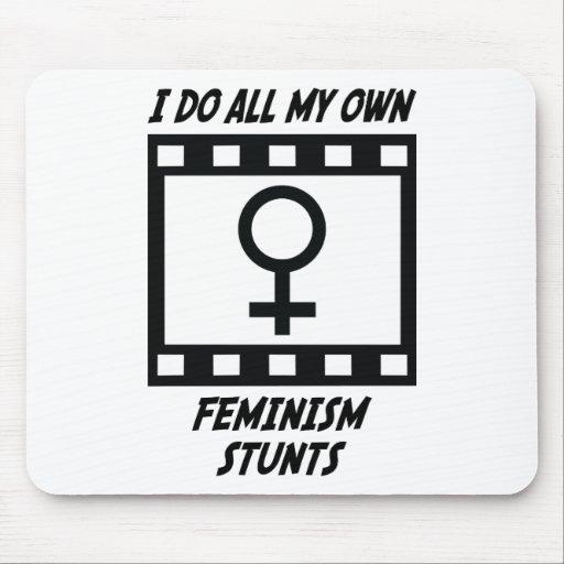 Feminism Stunts Mouse Pad
