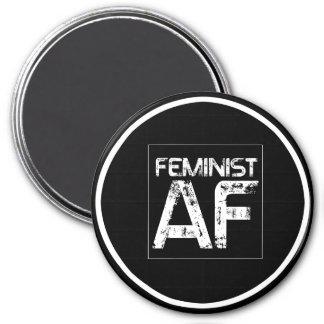 Feminist AF -- - white - Magnet