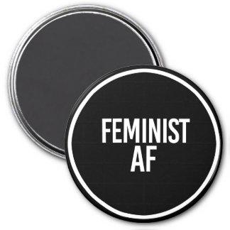 Feminist AF - - white - Magnet
