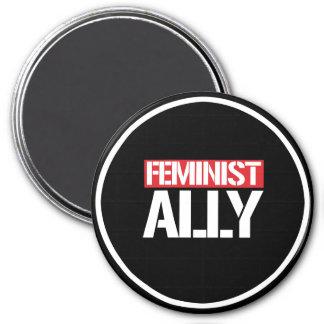 Feminist Ally --  white - Magnet