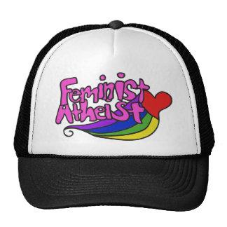 Feminist atheist mesh hat