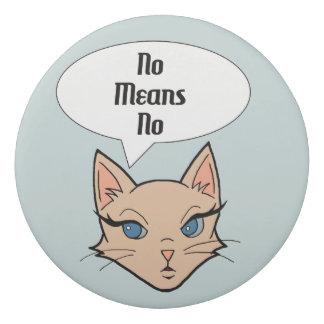 Feminist Cat Cartoon Illustration Eraser