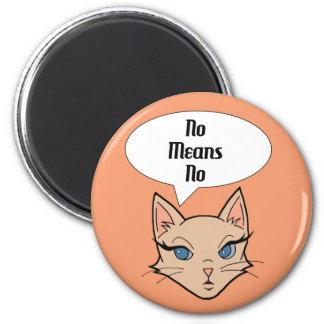 Feminist Cat Cartoon Illustration Magnet