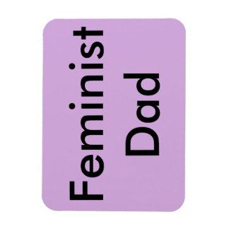 Feminist Dad Car Magnet