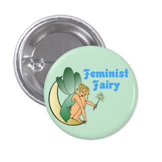 Feminist Fairy (Version 1) 1 Inch Round Button