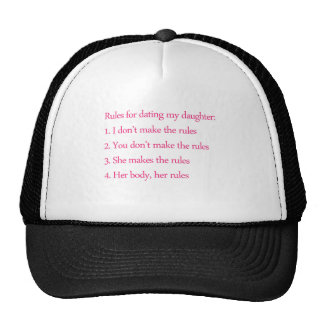 Feminist Father and his rules Mesh Hat