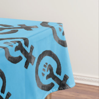 Feminist Fist (blue background) Tablecloth