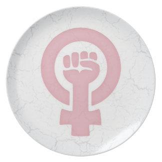 Feminist Fist Plate