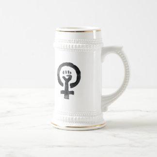 Feminist Fist Symbol Beer Stein