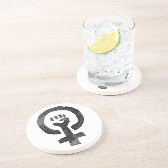 Feminist Fist Symbol Coaster