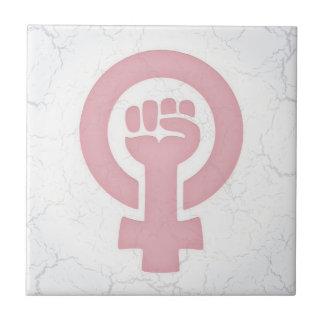Feminist Fist Tile