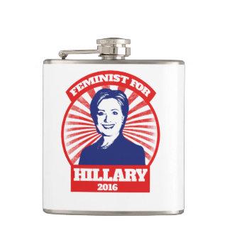 Feminist for Hillary Clinton 2016 Hip Flask