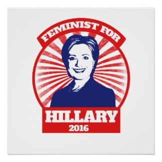 Feminist for Hillary Clinton 2016 Poster