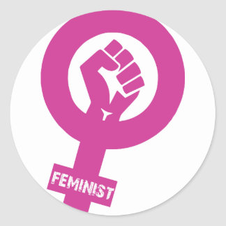 Feminist Gender Rights Symbol Classic Round Sticker